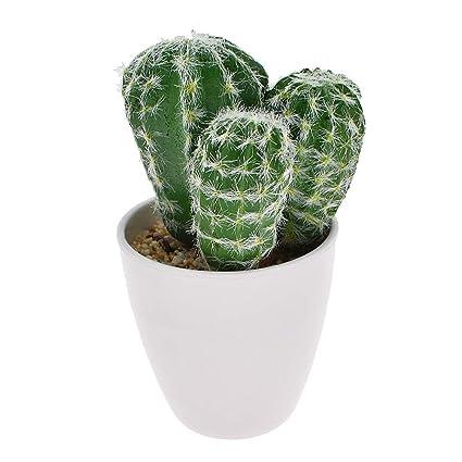 Artificial Plastic Miniature Succulents Plant Cactus Flower Home Decor #4