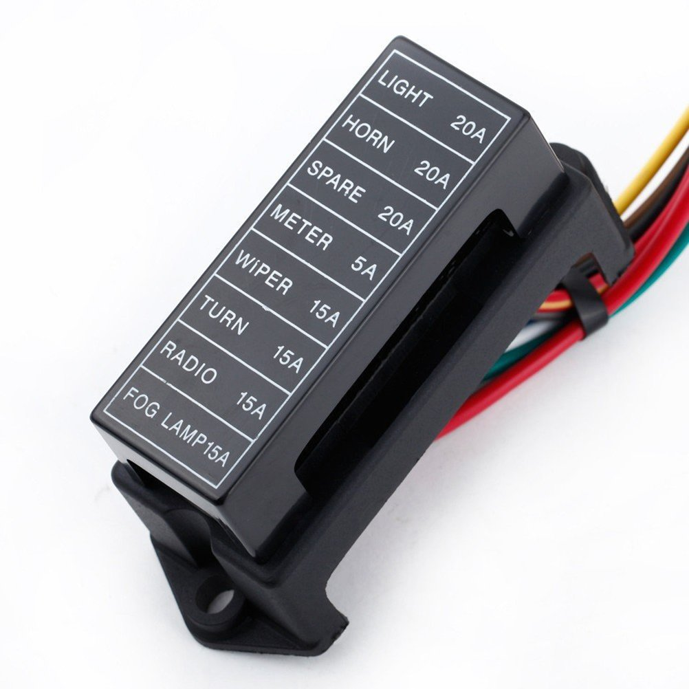 fusible non inclus Yardwe Carte de fusible pour circuit standard avec porte-fusible /à 8 entr/ées et 8 entr/ées avec c/âble de 15 cm pour camion de trike marin de bateau de voiture