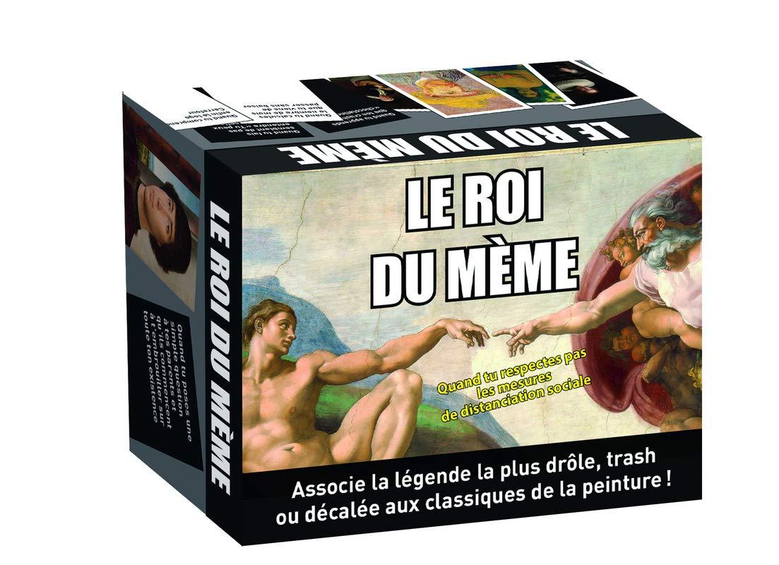 Jeu-Le Roi du mème – Le jeu d'apéro le plus drôle qui mélange humour trash et oeuvres d'art, pour faire rire tes amis et animer la soirée !