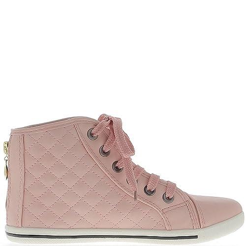 Rosas de mujer zapatillas de deporte subiendo las costuras - 37: Amazon.es: Zapatos y complementos