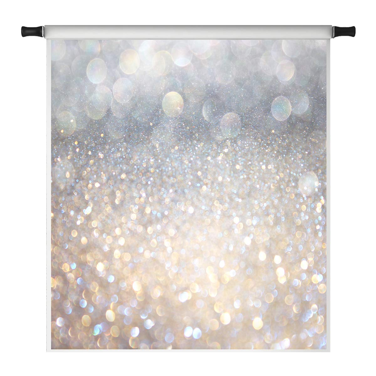 Kate 8x8ft Bokeh Photo Backdrop Shining Background Party Decoration Glitter Backdrops Microfiber Photography Background by Kate