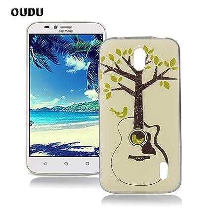 OuDu Funda para Huawei Y625 Carcasa Protectora Caso Silicona TPU Funda Suave Soft Silicone Case Cover Bumper Funda Ultra Delgado Carcasa Flexible ...