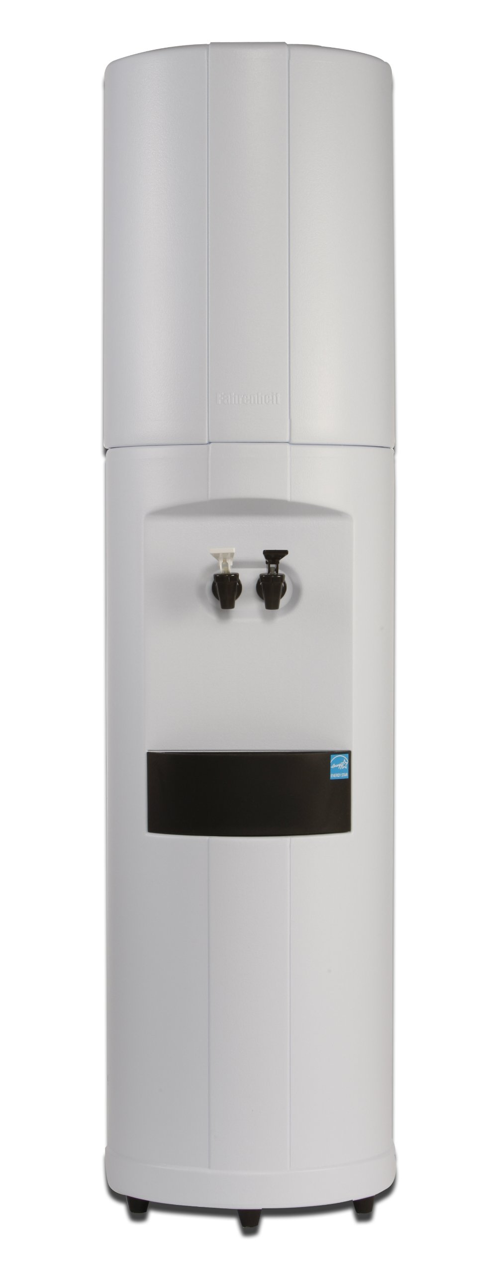 Fahrenheit Water Cooler - RoomTemp/Cold - White Cabinet with Black Trim - Made in North America - 5 Year Warranty by Aquaverve Water Coolers