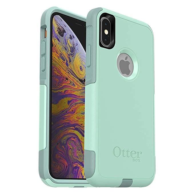 4c0738358f932 OtterBox COMMUTER SERIES Case for iPhone Xs & iPhone X - Frustration Free  Packaging - OCEAN WAY (AQUA SAIL/AQUIFER)