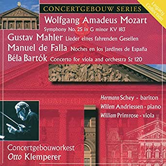 Mozart: Symphony No. 25 - Mahler: Lieder - Falla: Noches en los ...