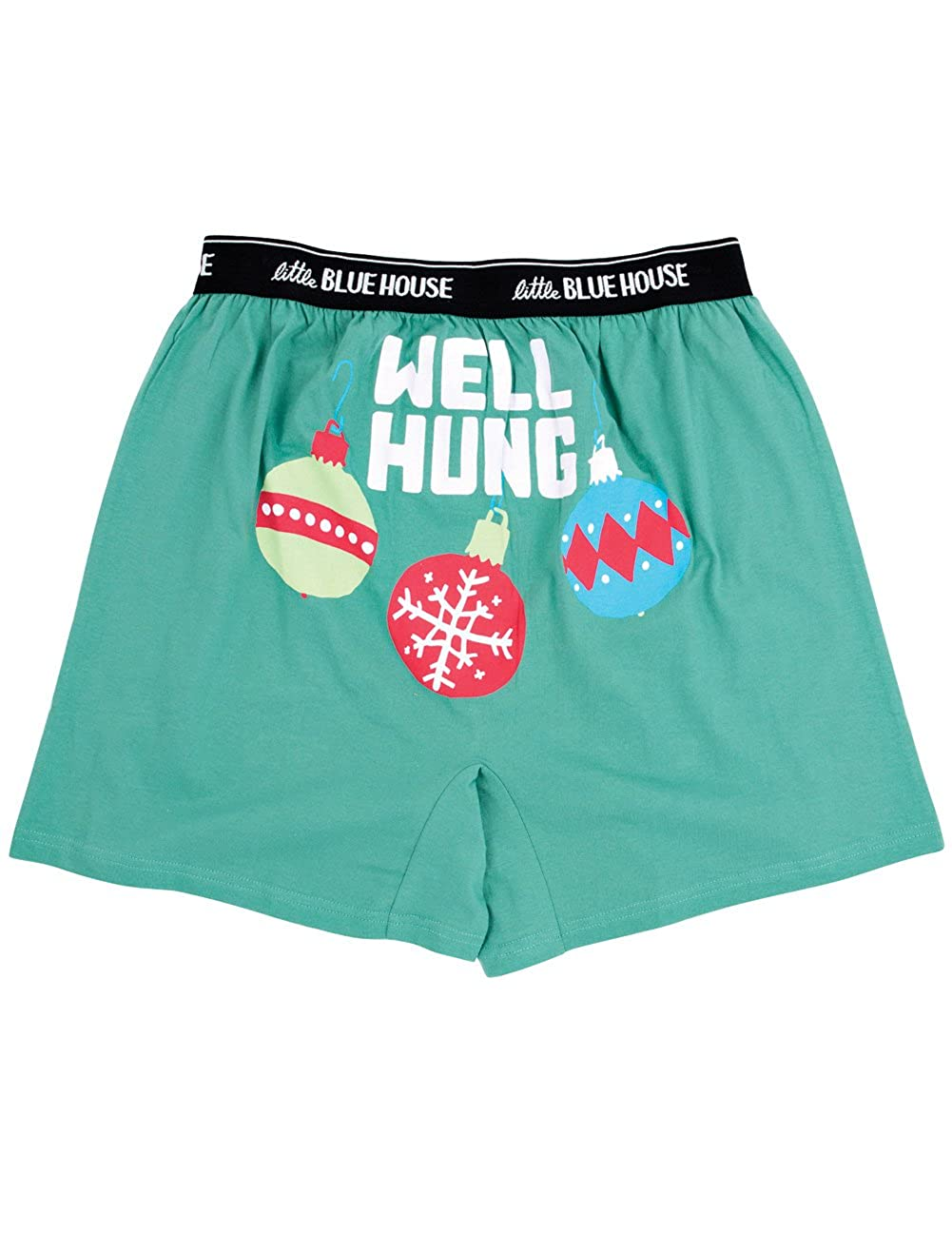Well Hung Boxers - Humorous Holiday Print On The Rear Johnson Smith Co 19883
