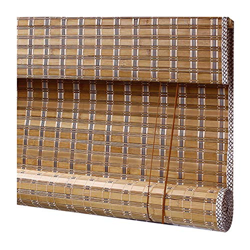 ZEMIN Bamboo Blind Roller Curtain Window Retro Anti-UV Liftable, 2 Styles, 30 Sizes Customizable (Color : A, Size : 130x250cm) -