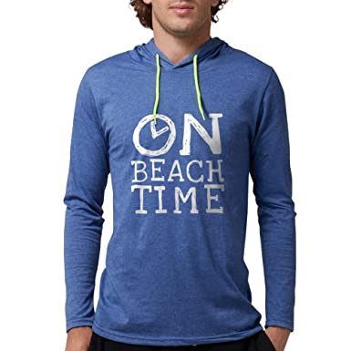b435034d7468 Amazon.com  CafePress - On Beach Time - Mens Hooded Shirt  Clothing