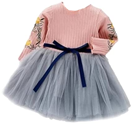 deb78a910e51a (エンジェルムーン) AngelMoon 女の子 ワンピース チュールスカート ドレス お姫様 リボン 花柄 発表会