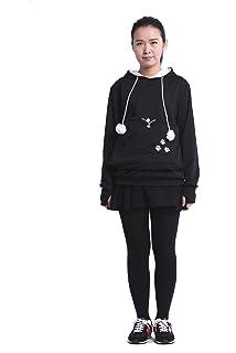 5263623aa2da SAIANKE Womens Hoodies Pet Holder Cat Dog Kangaroo Pouch Carriers Pullover