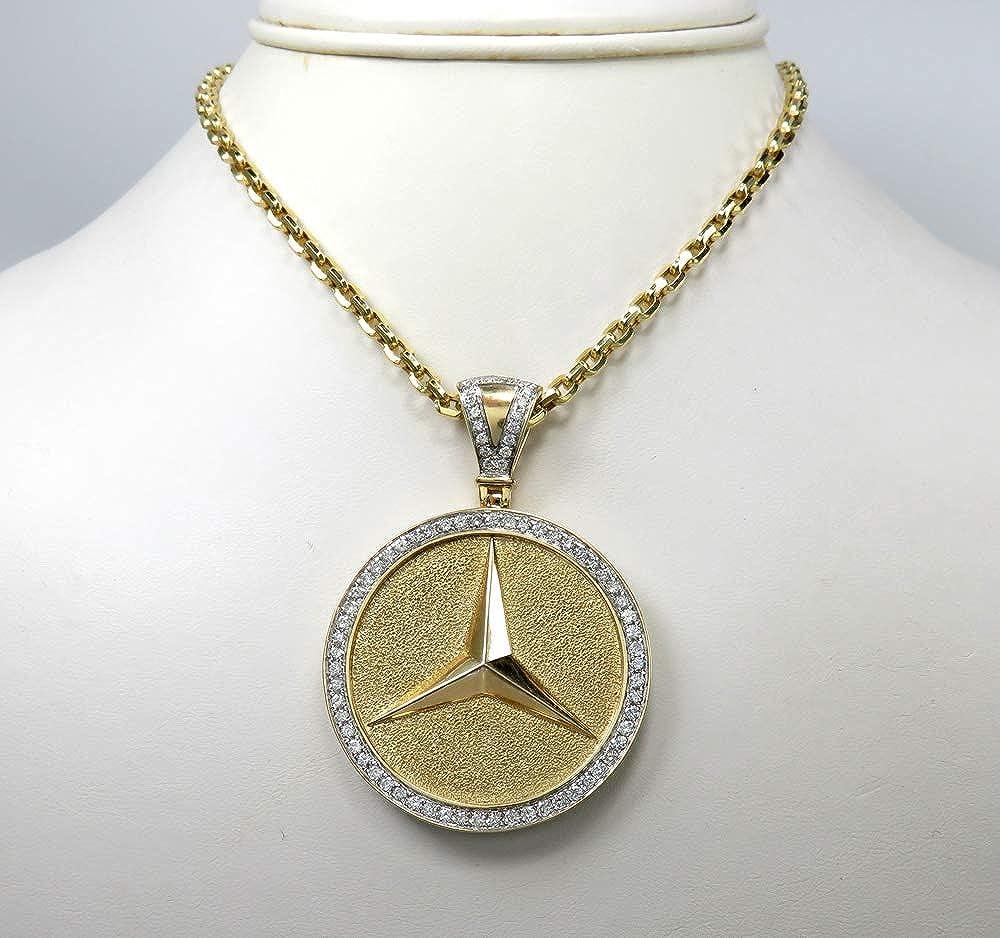 Details about  /14k Yellow Gold Plated Men/'s 1 ct Round Sim Diamond ASTEN MARTIN Car Logo Pendan