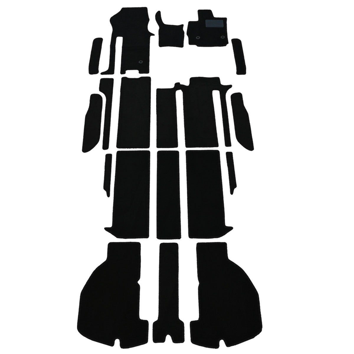 D.Iプランニング カー用品 フロアマット & ステップマット セット 型番1 【 トヨタ アルファード 30系 】 車用 カーマット DX黒 B010RSEK4Q 型番1|DX黒 DX黒 型番1