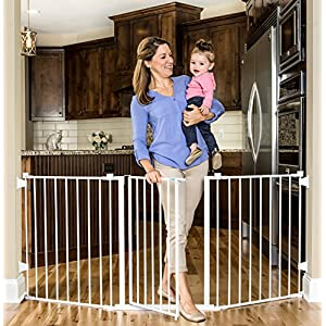 Regalo 76 Inch Super Wide Configurable Baby Gate, Includes 4 Pack of Wall Mounts and Hardware 7