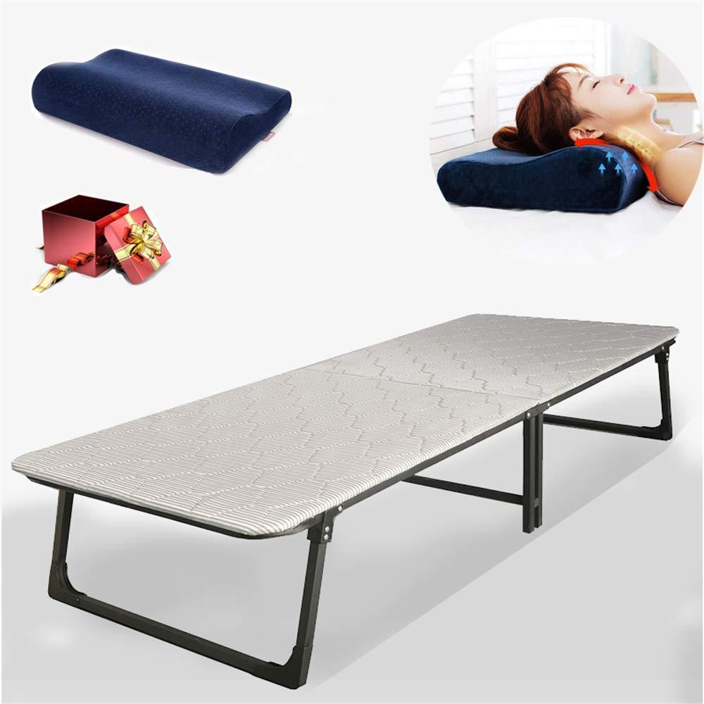 WSN Gästebett klappbar,Klappbett, mit Matratze Klappbett mit 200 kg wiederverwendbaren Kissen Einzelbett für EIN Büroschlafbett Freizeitbett,80cm