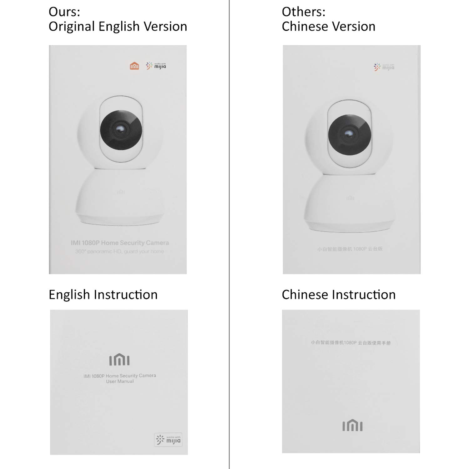 Ltd IPC004-20-US-32 IMI Dome 1080p HD WiFi IP Camera Indoor Wireless Pan Tilt Security Home Surveillance with Night Vision Pre-Installed 32G Card Motion Detection Alert 2-Way Audio for Baby//Pet//Elder Shenzhen Dianchen Industrial Co