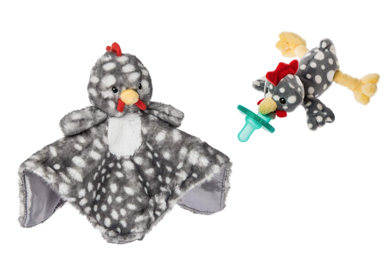 Mary Meyer Rocky Chicken Character Blanket and Wubbanub Pacifier Bundle (2 Items) by Mary Meyer