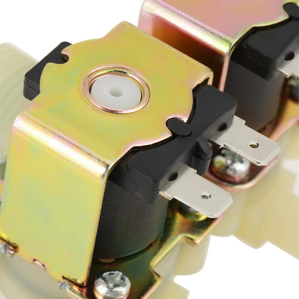 4 DC 12V Elektrisches F/ührungsmagnetventil normalerweise geschlossen Magnetventil zur Wassereinstellung Messingmagnetventil G3