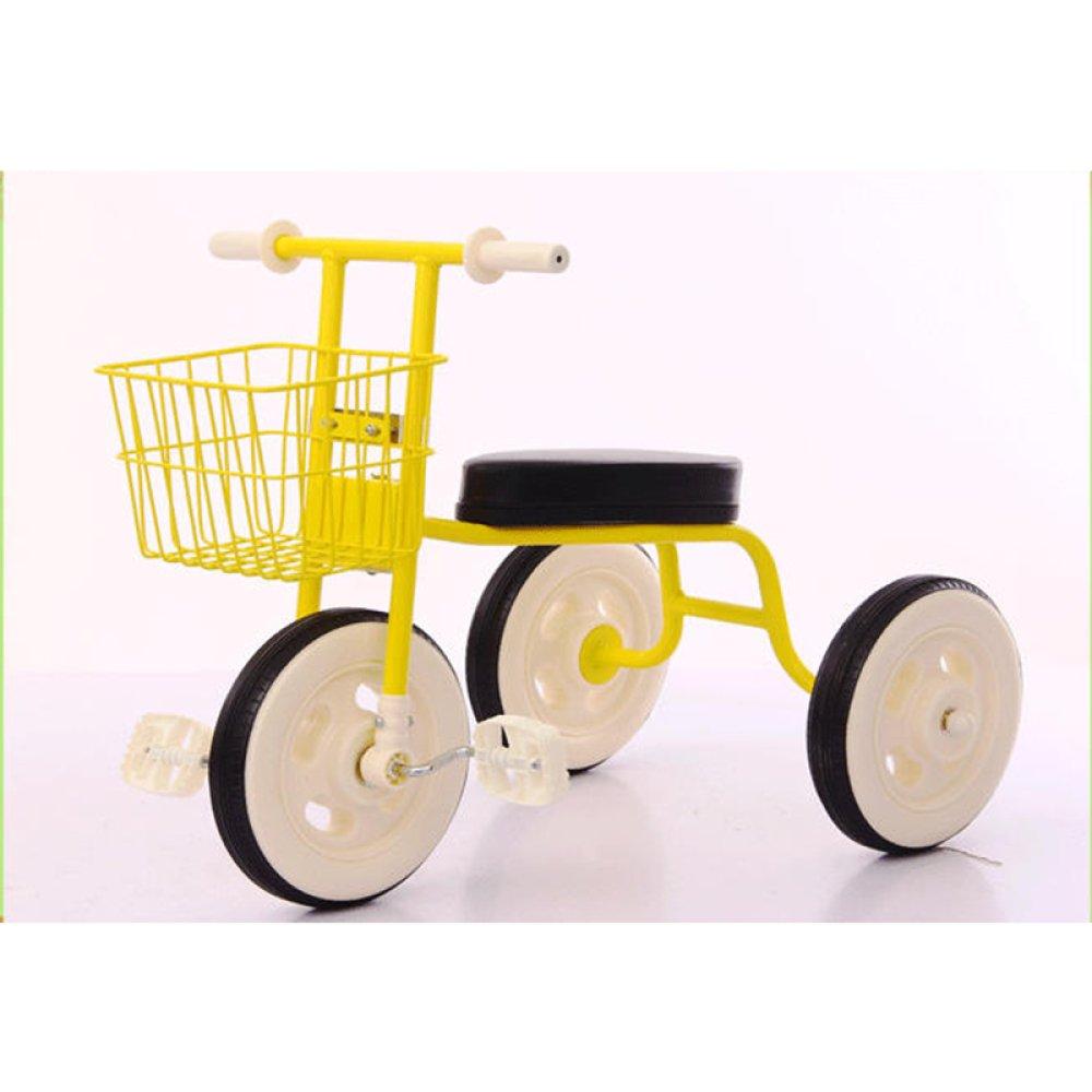 Kinder Dreirad 1 2-3 Jahre Alt Männlich Und Weiblich Baby Fahrrad Bequem Kinderwagen,Gelb