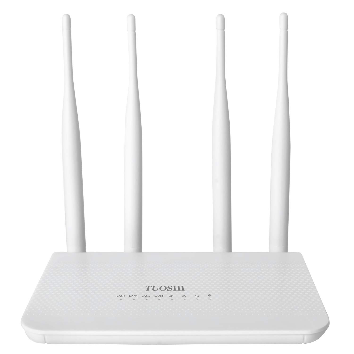 TUOSHI 4G LTE CPE | Unlocked 4G Wireless Router with SIM Card Slot-300Mbps WiFi Router | WiFi Hotspot, Support T-Mobile AT&T (4 Antenna) by TUOSHI