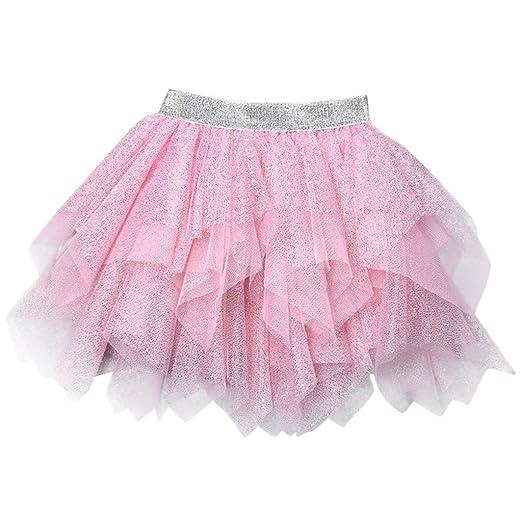 LianMengMVP - Vestido de niña con Lentejuelas Irregulares tutú de ...