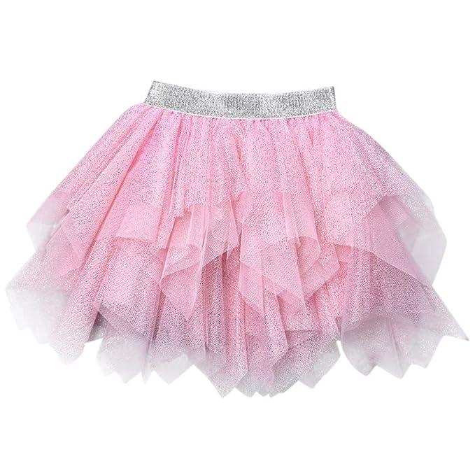 QinMM Falda de tutú para niñas bebé 3-6 años, Bowknot Pettiskirt ...