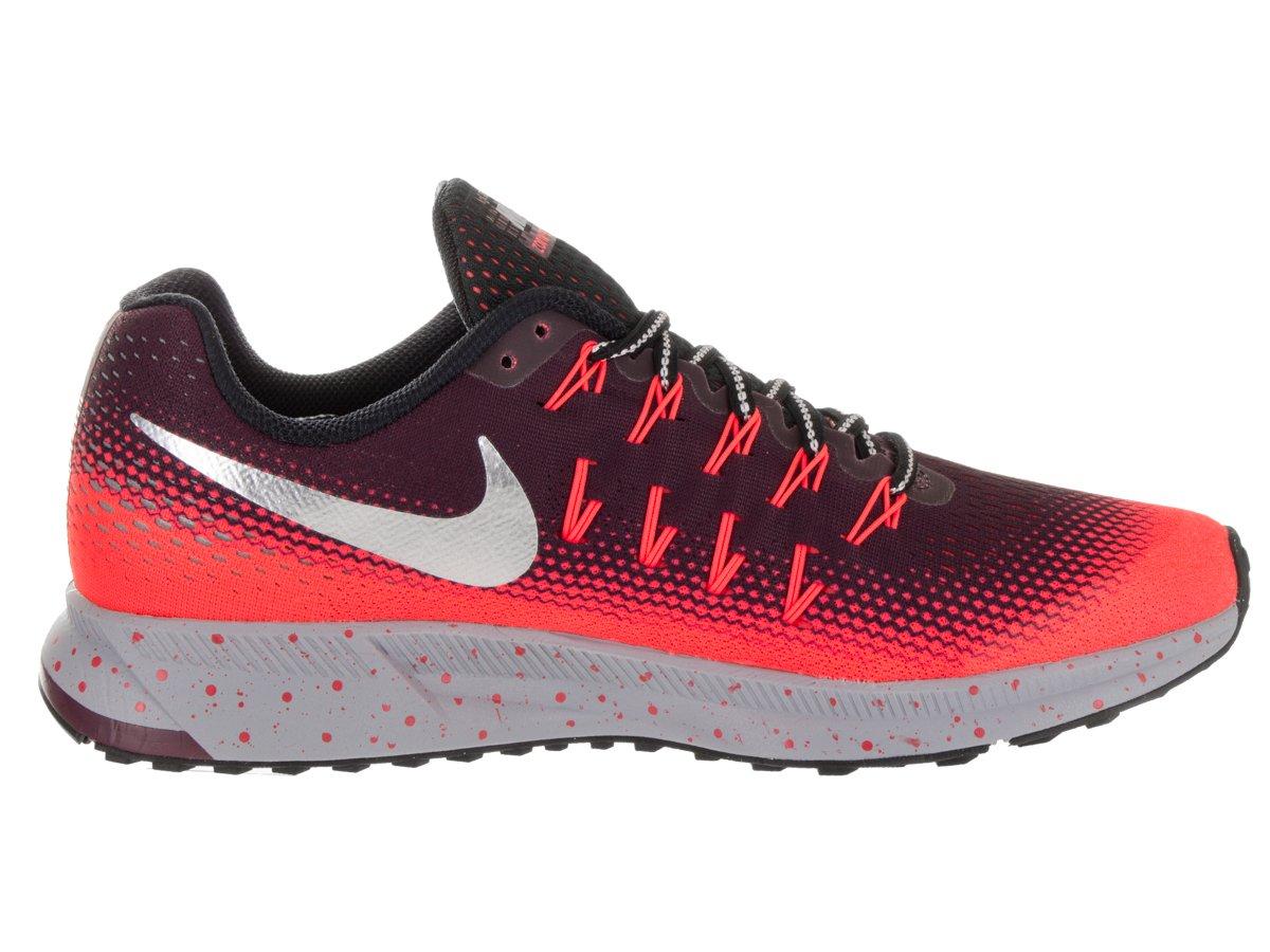 Nike Men's Air Zoom Pegasus 33 Shield Night Mardon/Metallic Silver Running Shoe 8 Men US