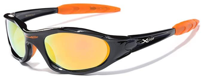 82430ca1be Image Unavailable. Image not available for. Color  X LOOP Wrap Around Men s  Sport Cycling Baseball Running Sunglasses