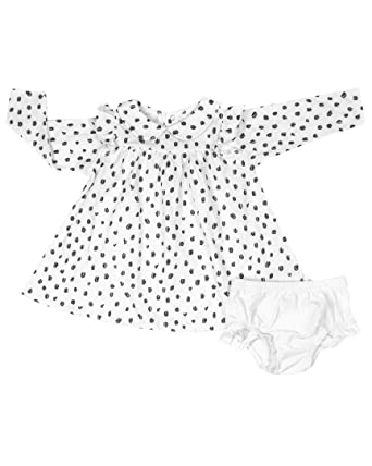 a0a67b4cc Amazon.com  Rosie Pope Baby Girls Rosie Pope Printed Ruffle Dress ...