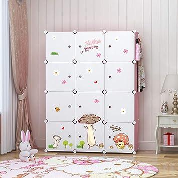 buy popular 13df1 c9965 YOZO Modular Kids Wardrobe Closet Portable Children Dresser Baby Portable  Closet Clothes Storage Organizer DIY Furniture, Blue, 12 Cubes