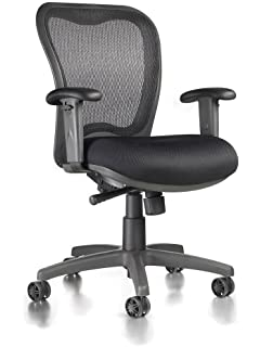 LXO Ergonomic Mid Back Task Chair (Black)