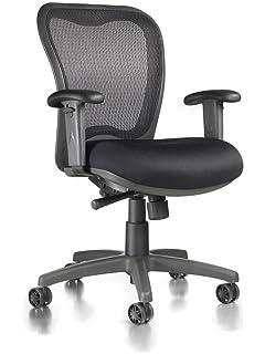 LXO Ergonomic Mid Back Task Chair (Black)