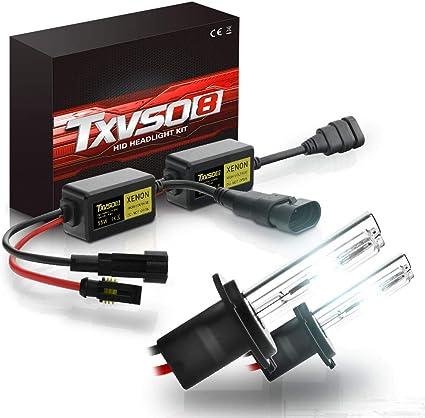 TXVSO M/ás reciente Mini 12V 55W Xenon HID Kit de conversi/ón Faros delanteros para reemplazo de veh/ículo de autom/óvil Juego de bombillas hal/ógenas 8000K cristal azul H7