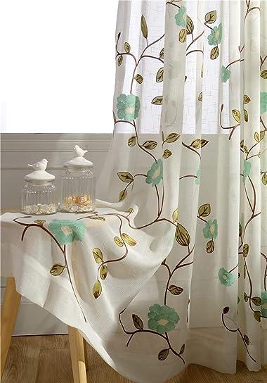 Cheap TIYANA Floral Curtain window curtain panel for sale