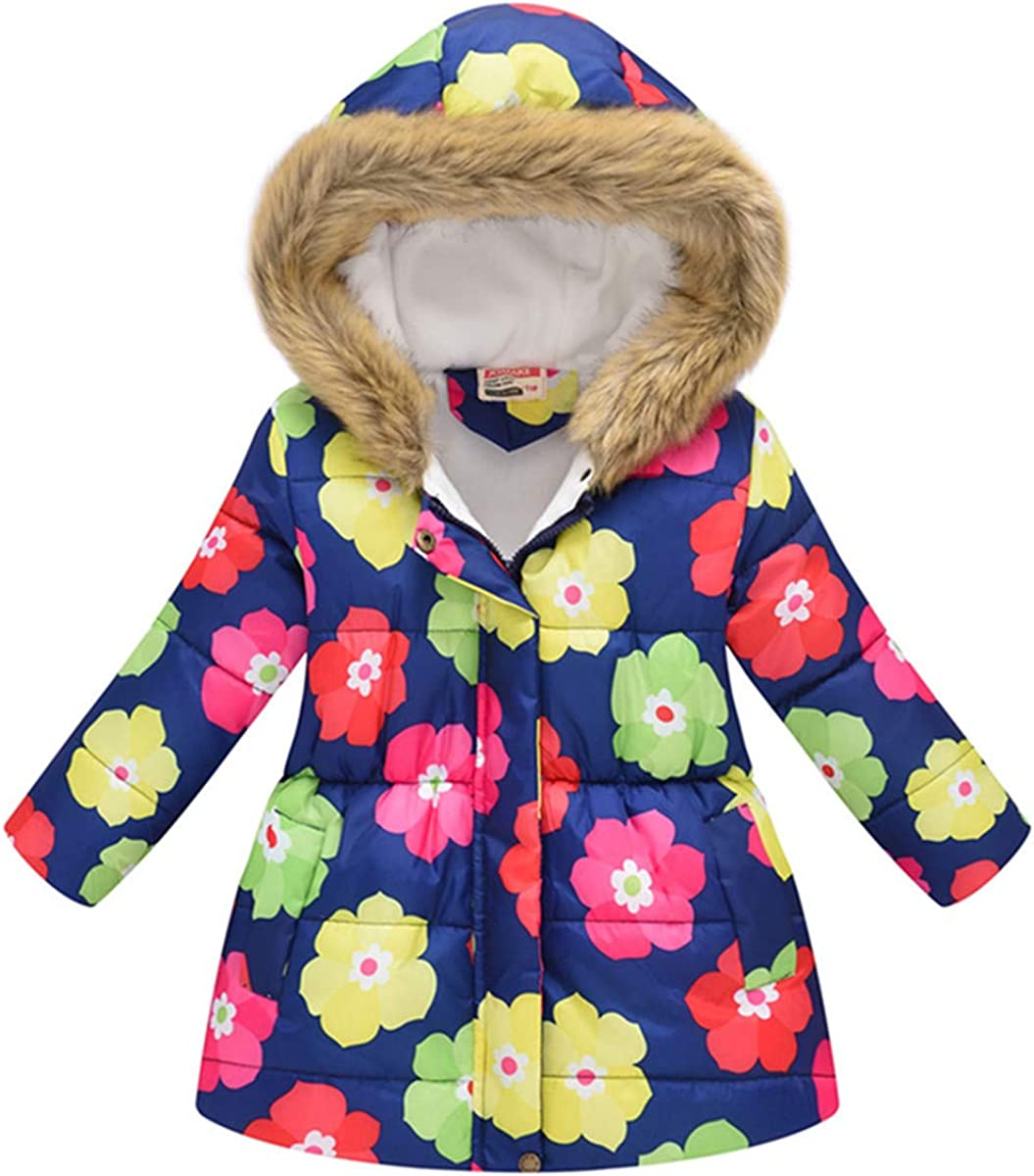 Autumn Cute Toddle Girl Long Sleeve Pink Flower Print Coat Sweatshirt Hoodied