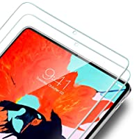 ESR Screen Protector for iPad Pro 12.9 2018 [2 Pack] [Full Screen Covered], Premium Tempered Glass Screen Protector for iPad Pro 12.9 inch (2018 Release, Not for 2017 Verson)