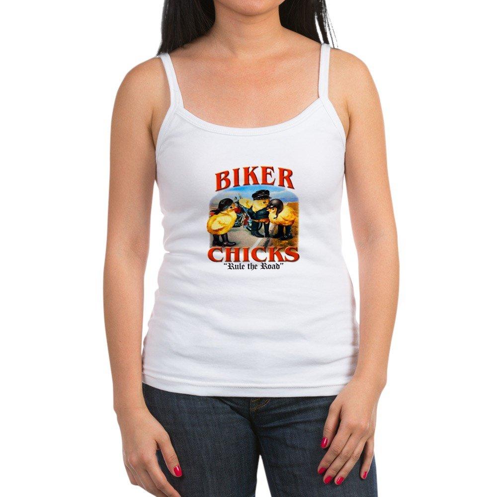 Royal Lion Jr Spaghetti Tank Biker Chicks Women Girls Rule Road