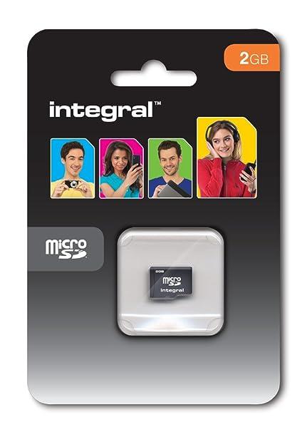 Integral 2GB microSD 2GB MicroSD Memoria Flash - Tarjeta de Memoria (2 GB, MicroSD, Negro)