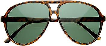 d5b4f5fa62f Vintage Inspired Classic Tear Drop Plastic Aviator Sunglasses (Tortoise)