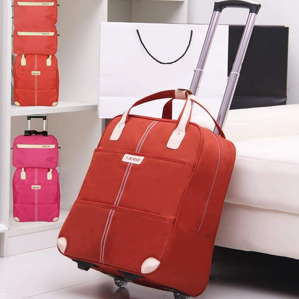 Color : Blue Minmin-lgx Travel Bag Trolley Bag Female Luggage Bag Short-Distance Travel Business Bag Light Portable Trolley Boarding Package