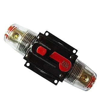 RKURCK Manual Reset Fuse holder,12V-24V DC Car Audio: Amazon.co.uk on