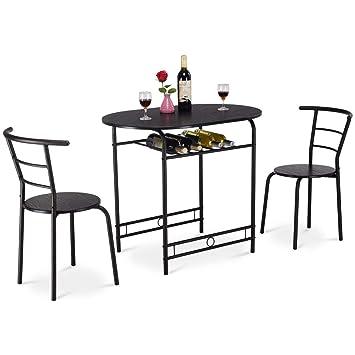 Costway Küchenbar 3tlg Sitzgruppe Küche Esstisch Mit 2 Stühlen