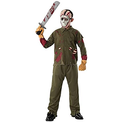 Halloween Costume Jason Friday 13th.Amazon Com Friday The 13th Jason Costume Dlx Boy Child 8 10