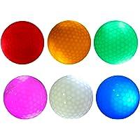 MagiDeal 6 Piezas Bola de Golf Resplandor Luz