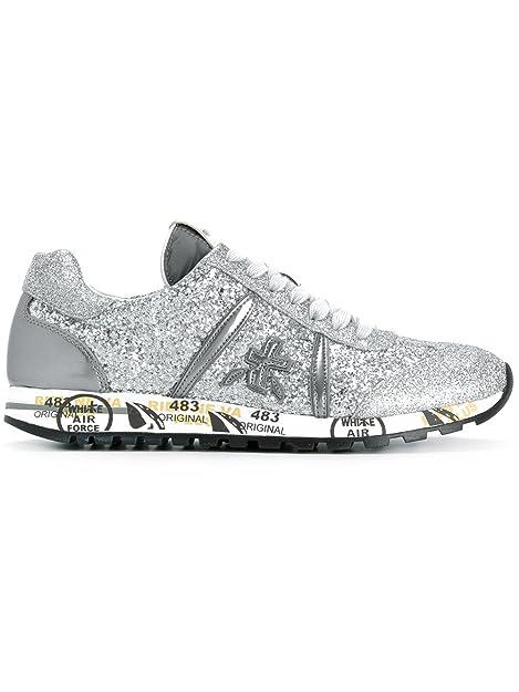 PREMIATA - Zapatillas para Mujer Plateado Plata IT - Marke Größe, Color Plateado, Talla 37 IT - Marke Größe 37: Amazon.es: Zapatos y complementos