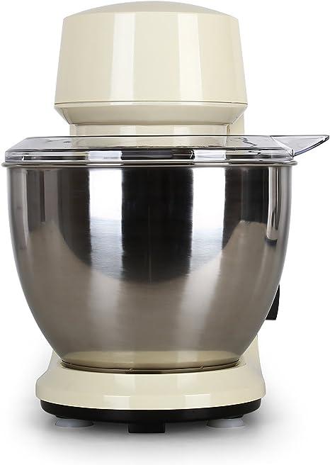 Klarstein - Carina Morena, Robot de cocina, Batidora, Amasadora, 800 W, 4 L, Batido planetario, 6 niveles de velocidad, Recipiente de acero inoxidable, Bloqueo de seguridad, Beige: Amazon.es: Hogar