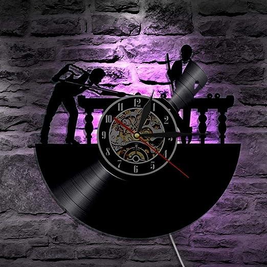 PQPQPQ 1 Pieza Mesa de Billar Juego de Billar para Reloj de Pared ...