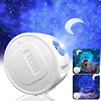 Star Projector,Garwarm Starry Sky Projector,3 in 1 Ocean Wave Laser Projector w/LED Nebula Cloud& Moon,Voice Control…