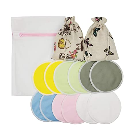 Toyvian Almohadillas de lactancia reutilizables Almohadillas ...