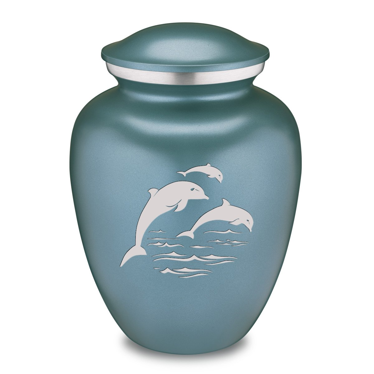 Adult Embrace Dolphins Cremation Urn for Ashes