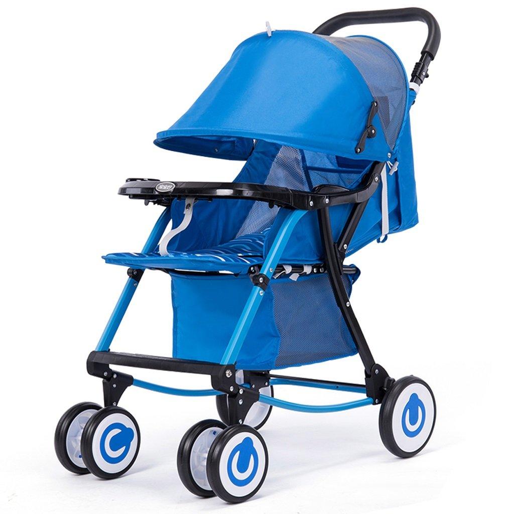 ベビーカー(ブルー)(パープル)80 * 51.5 * 98.5cm ( Color : Blue ) B07BTWRVVG